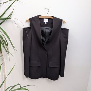 Jules & Leopold Cold Shoulder Blazer
